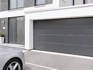 tendance porte de garage sectionnelle avec porte fenetre With porte de garage sectionnelle avec porte fenetre double vitrage pvc