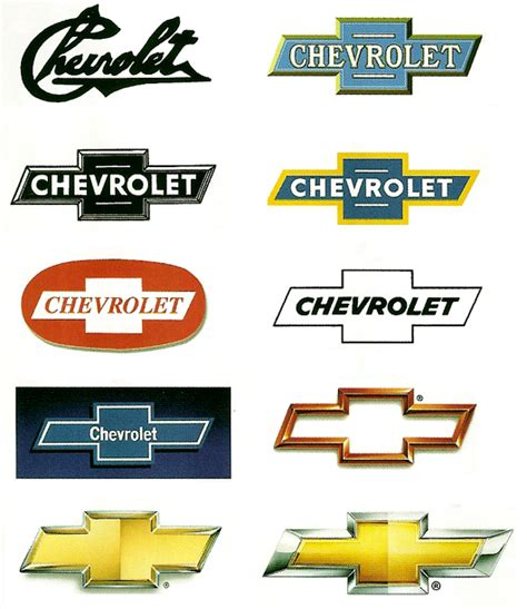 Chevrolet History by Evolution Of Car Manufacturers Logos Chevys Car