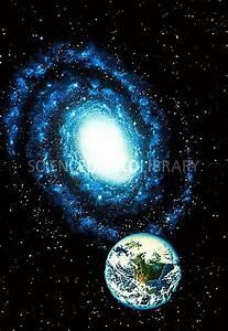 Earth & Milky Way galaxy - Stock Image R800/0126 - Science ...