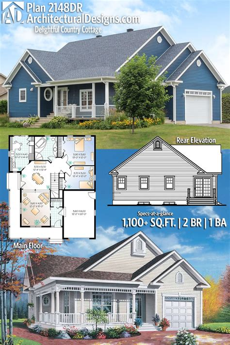 Plan 2148DR: Delightful Country Cottage in 2020 Country