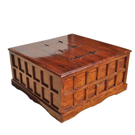 Are you a big fan of 17th century pirates? Beaufort Solid Wood Square Coffee Cocktail Table Storage ...
