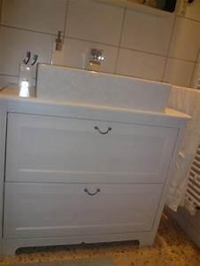 Badezimmer Waschbeckenunterschrank Ikea : wohnzimmer 39 mini badezimmer 39 dahemm zimmerschau ~ Michelbontemps.com Haus und Dekorationen