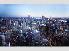 New York City Skyline at Blue Hour from the Top of the