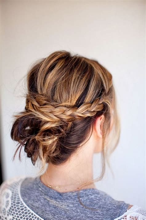 Updo Hairstyles With Braid by 15 Fresh Updo S For Medium Length Hair Popular Haircuts