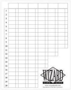 wizard oversized scorepads   printable score