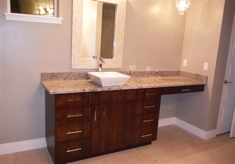 bathroom vanity with makeup station kc s cabinetry gallery cabinets for homes remodels