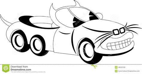 cartoon car black and white cartoon car stock vector image 48233160