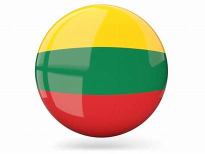Flag Lithuania Round Icon Glossy Graphics Graafix