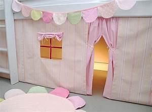 Hochbett Vorhang Nähen : h bscher vorhang f r ein halbhohes hochbett sehr sch ner streifenstoff in einem wundersch nen ~ Markanthonyermac.com Haus und Dekorationen