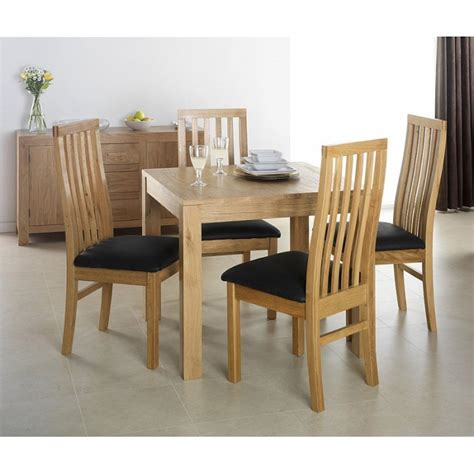 square table and chairs cuba oak square oak dining table with 4 chairs