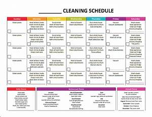 Complete housekeeping printable set monthly cleaning for Domestic cleaning schedule template