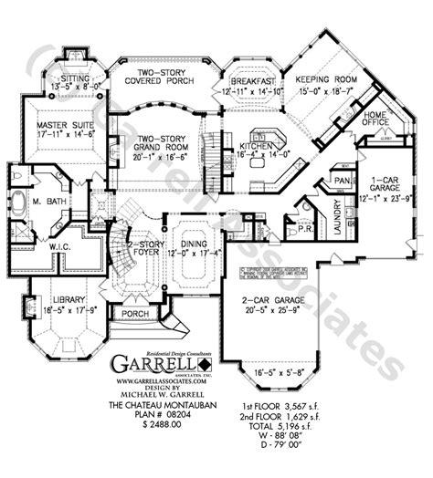 chateau floor plans chateau montauban house plan estate size house plans