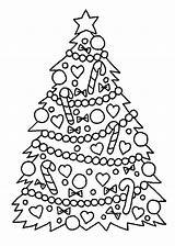 Coloring Christmas Tree Pages Printable Colouring Holidays Well Sheets Trees Chrismas Xmas Sheet Printables Decorations Number Templates Adults Noel Detailed sketch template