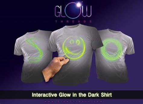 glow threads fully interactive glowing  shirt gadgetsin
