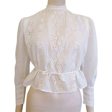 lace blouse antique white lace blouse 1900s eyelet pintuck