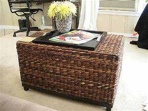 wicker coffee table and chairs for your home the decoras With using a trunk as a coffee table