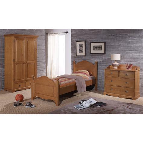chambre en pin chambre complète pin miel lit armoire commode