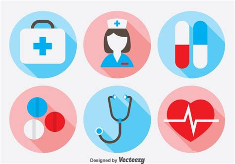doctor icons set   vectors clipart graphics