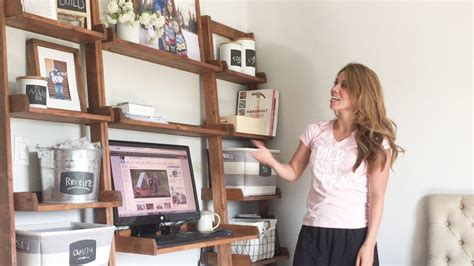 make a desk out of bookshelves how to build a leaning desk wall youtube