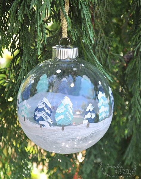 decoart blog crafts hand painted winter scene ornaments