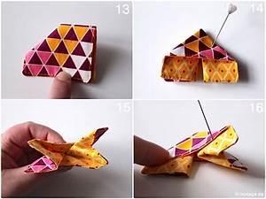 Origami Schmetterling Anleitung : n hblog modage origami schmetterling aus stoffresten n hen ~ Frokenaadalensverden.com Haus und Dekorationen