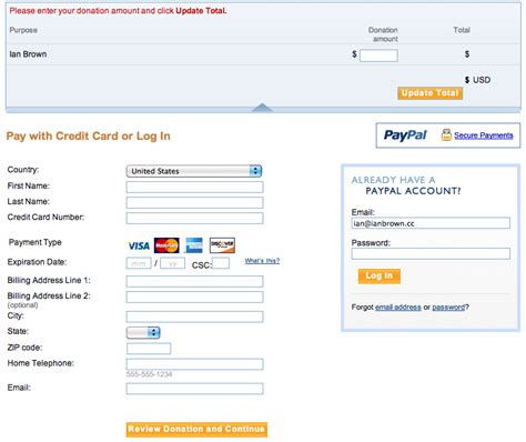paypal sign up form how to add the ability to accept donations to your website