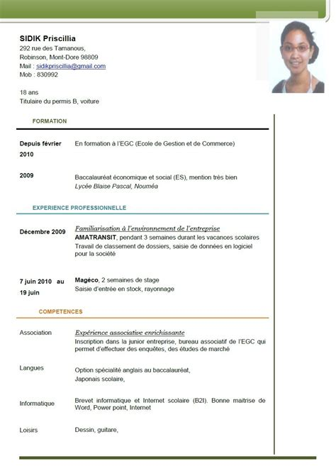 Copie Cv Gratuit copie cv cr 233 er cv word lusocarrelage