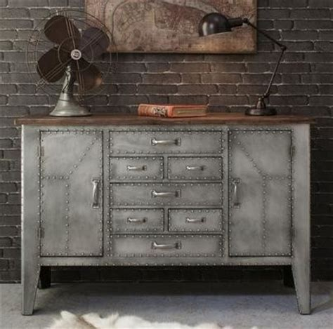 Metal Sideboards by Rivet Industrial Metal Sideboard Industrial Buffets