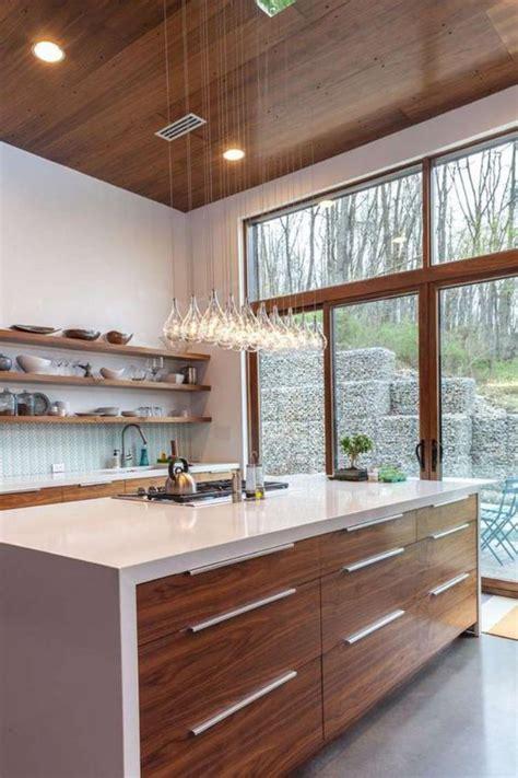 cuisine teck la cuisine avec ilot cuisine bien structurée et