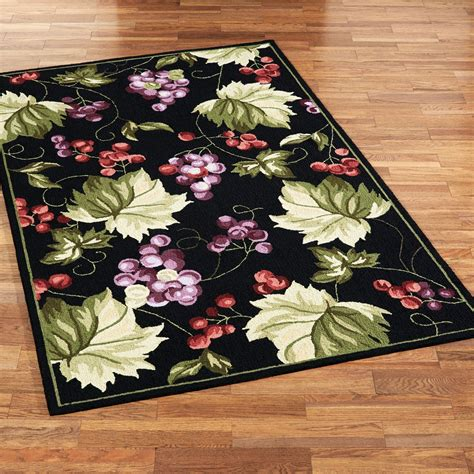 grape design kitchen rugs vintage harvest grapes area rugs 3907
