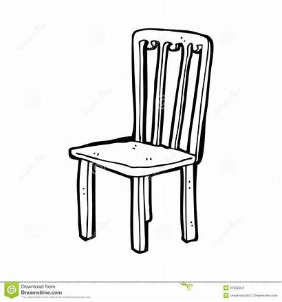 Cartoon Clipart Chair Line Vector Outline Wooden