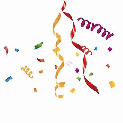 Celebration Transparent Celebrate Ribbon Ribbons Confetti Clip