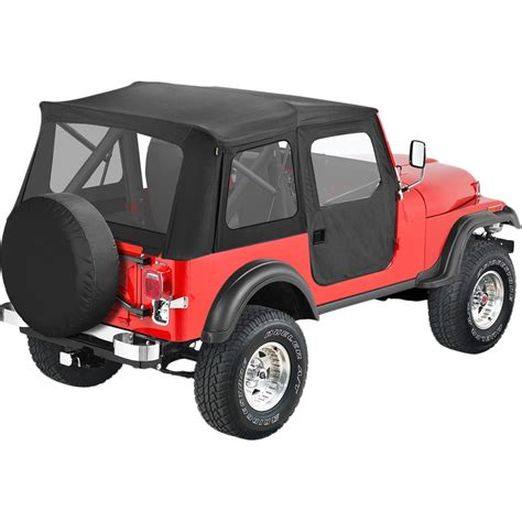 jeep new black bestop soft top new black jeep cj5 willys 1955 1958 51595