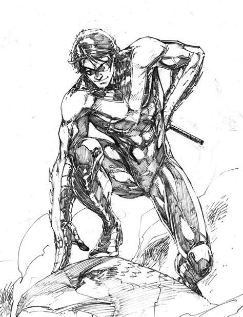 Drawn robin superhero - Pencil and in color drawn robin
