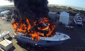 Boat Fail 24m Superyacht Fire Caught On Drone Camera