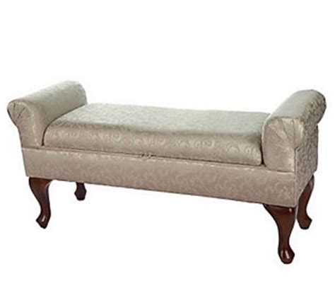 rolled arm bench amadeus home jacquard design rolled arm 48 bench