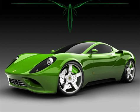 green  black ferrari wallpaper  widescreen wallpaper