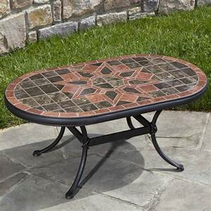 macchiato marble mosaic coffee table With outdoor patio coffee table stone