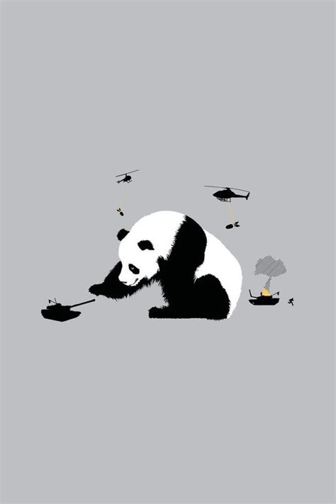 abstract funny panda bears simple simplistic wallpaper