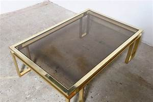 belgo chrome brushed brass coffee table at 1stdibs With brushed brass coffee table