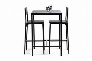 Table Et Chaise Bistrot : table haute avec 2 chaises funky design sur sofactory ~ Teatrodelosmanantiales.com Idées de Décoration