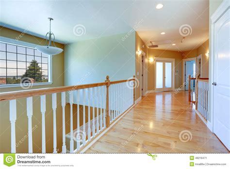 Upstairs Hallway With Railings Stock Photo   Image: 48218471