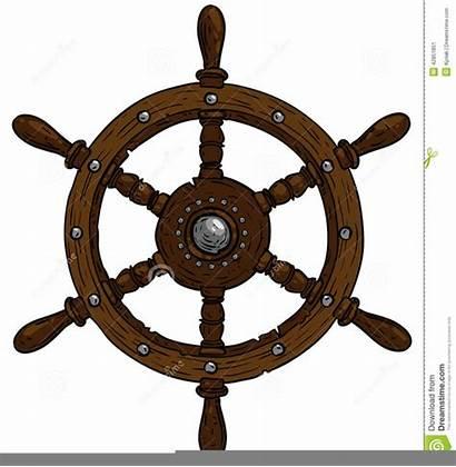 Wheel Steering Marine Ship Theme Illustration Clipart