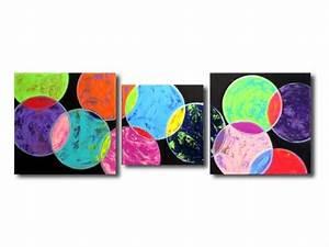 Tableau Moderne Coloré : tableau peinture tableau xxl color moderne tableau xxl abstrait arc en ciel color bleu ~ Teatrodelosmanantiales.com Idées de Décoration