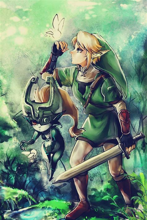 Legend Of Zelda Twilight Princess Link Midna Anime And