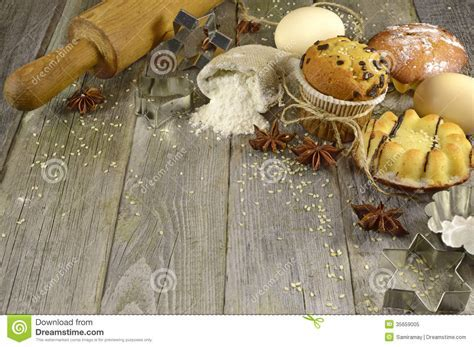 Corner border with bakery stock image. Image of