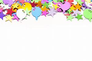 Image of Birthday Party Background with Stars and Balloons