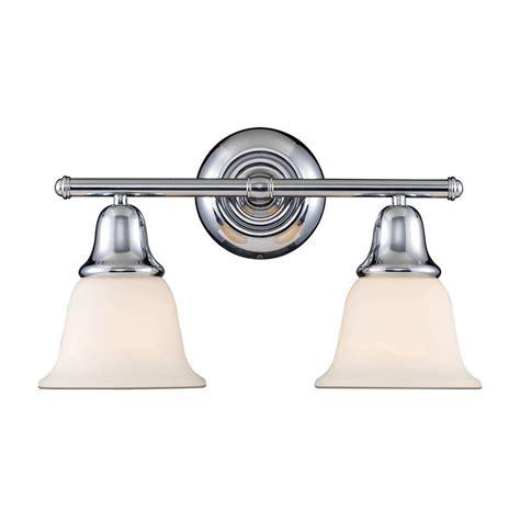 titan lighting berwick 2 light polished chrome wall mount
