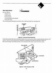 1996 Hummer H1 Dash Removal Diagram