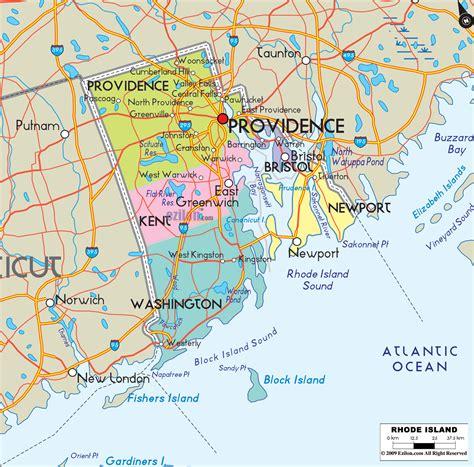 political map  rhode island ezilon maps